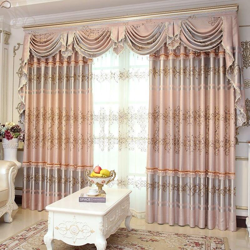 Classique européen haut de gamme rideaux pour chambre salon le salon fenêtre ombre occultant décoration pure rideau