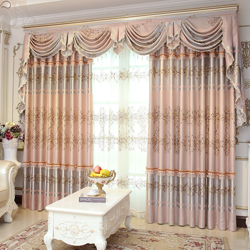 High End Classical European Curtain The Sitting Room Bedroom Window Shade E-in Curtains From
