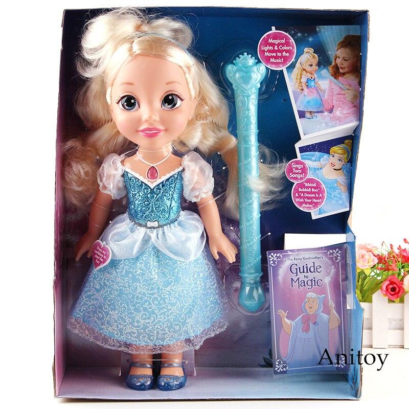 Baguette magique cendrillon princesse jouets avec lumière et son musique PVC Action Figure filles jouet poupée