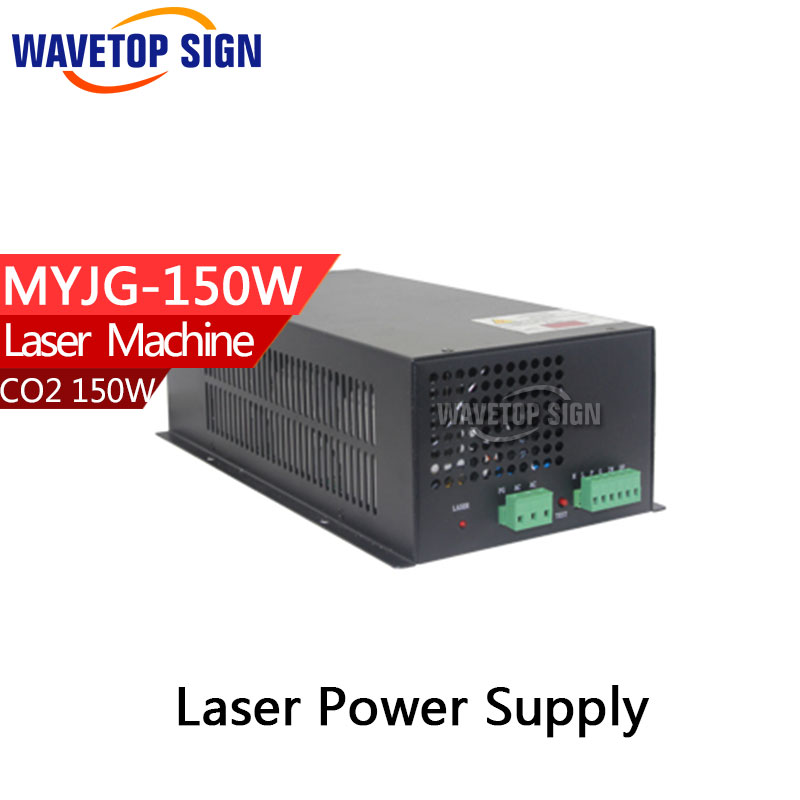 150W CO2 Laser Power Supply for CO2 Laser Engraving Cutting Machine MYJG-150W factory supply co2 laser second reflection 25mm mirror mount support integrative holder for laser engraving cutting machine