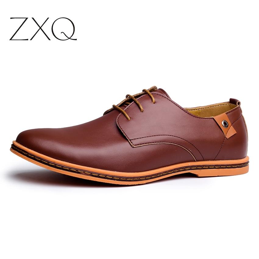 Shoes for Men on Men Leather Shoes Spring Autumn Men Casual Flat Patent Leather Men Shoes
