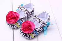 2017 Trendy Baby Girls Crib Shoes Bow Flower Soft Sole Cozy Toddler Shoes 0-12 Months Prewalker