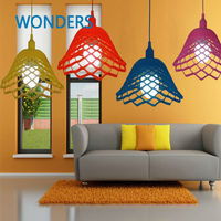 Colorful Fashion DIY Design Lamp Mesh Rubber Silica Gel Pendant Children Bedroom Droplight Bedroom Restaurant E27