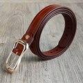 Vendimia 130 cm 150 cm Más Tamaño Femal cuero Genuino Diseñadores de la Marca de Lujo Cinturones De Cuero Punky de Las Mujeres Correa de La Cintura Grasa Para Jeans de Moda