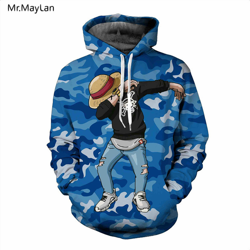 Japan Classic Anime One Piece 3D Print Luffy Hoodies Män Dam - Herrkläder - Foto 5