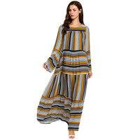 KLV Muslim Women Modest Maxi Dress Abaya Turkey Long Robe Kaftan Clothing Muslim Clothes Women Turkey Long Robe Kaftan Clothing