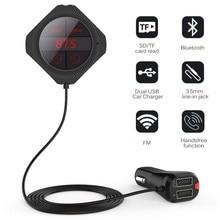 5MM Magnet Auto FM Transmitter Bluetooth MP3 Player Dual Auto Ladegerät Led anzeige Stereo Digital PLL Frequenz Für Iphone