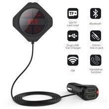 5MM mıknatıs araba FM verici Bluetooth MP3 oynatıcı çift araç şarj LED ekran Stereo dijital PLL frekans Iphone