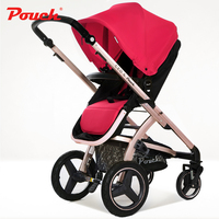 Pouch baby trolley high profile baby carriage can be reclining baby stroller children's carts portable umbrella E89