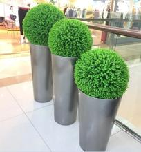 Artificial grass ball eucalyptus globule artificial plant plastic lawn home office decoration.
