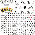 11pcs New Lovely Cartoon Cat Nail Stickers Water Transfer French Tips Manicure Pedicure DIY Stencils Watermark BLE2193-2203