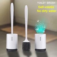 LF73001 toilet brush holder upgraded modern Design with soft bristle bathroom toilet bowl brush set toilet cleaning brush kit