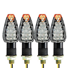 DC 12V 4pcs LED Turn Signals Amber Lights For Suzuki TS DR DRZ DR350 DL GSXR SV(China)
