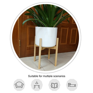 Image 2 - حامل حامل نباتات قابل للتعديل رف خشبي قوي للزهور بوعاء داخلي في الهواء الطلق MYDING