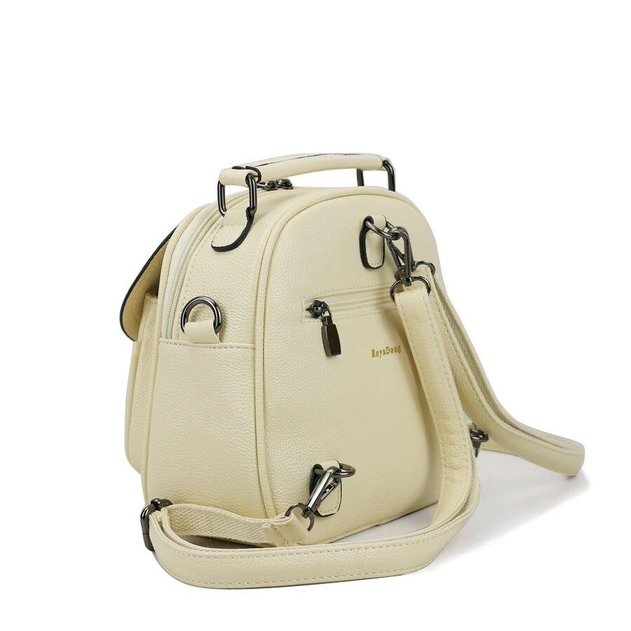 8895d68abdf5 RoyaDong 2019 женский рюкзак из искусственной кожи Модные школьные сумки  для девочек подростков мульти использование Crossbody сумки леденцовых  цветов ...