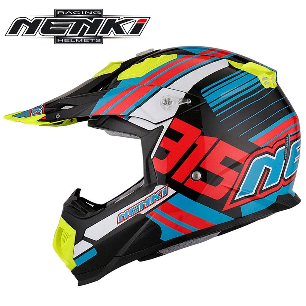 NENKI Casque de Motocross Moto Cross Casque intégral de descente vtt Pit Bike Dirt casques Mx moteur Casque Kask vtt