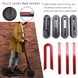 Image 2 - 4pcs Light Weight U   Shaped Stickers For Xiaomi M365 Scooter Front Rear Wheel Protective Cover With Linear U   Shaped Stickers