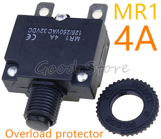 1pcs Thermal Switch Circuit Breaker Overload Protector MR1 4A 125/250VAC 32VDC Overload Switch