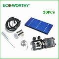 20 unids 3x6 células polycystalline solares, kit de células solares, diy panel solar para 12 v de la batería, envío gratis