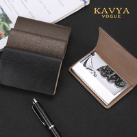 KAVYAVOGUE 2018 NEW Genuine Cow Leather Bussiness Namecard Case ID Card Men S Bank Card Holder