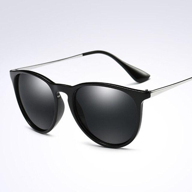 f7c10484a Black Brown New Designer Polarized Óculos De Sol Das Mulheres Retro  Espelhado Óculos Olho de Gato