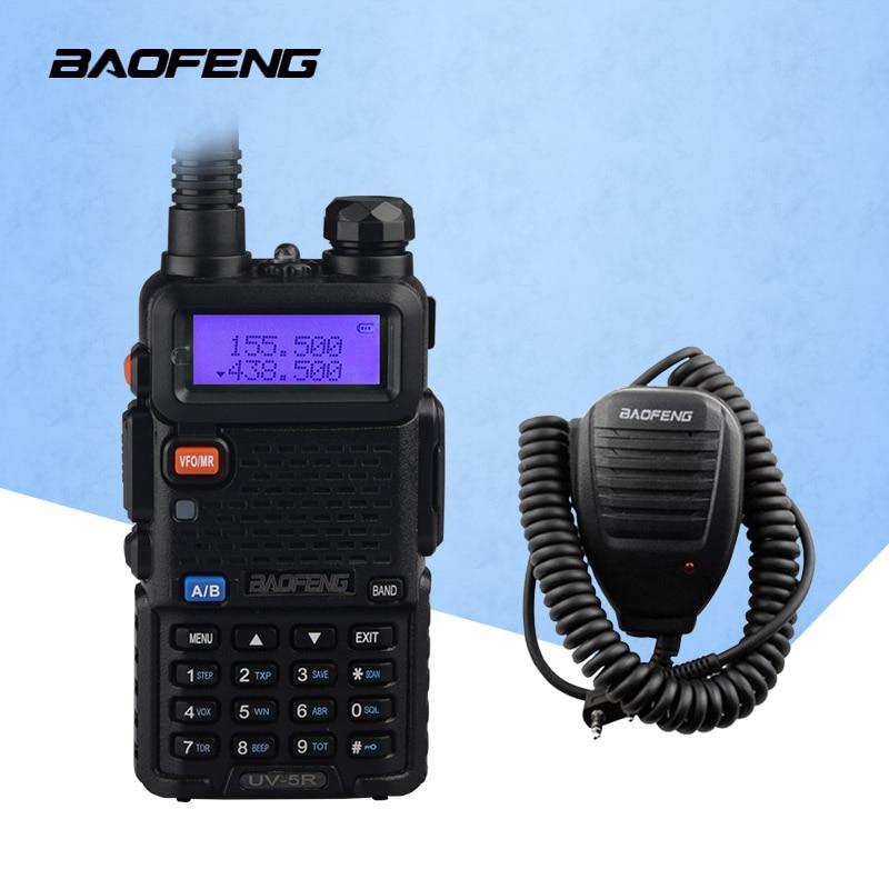 Walkie Talkie BaoFeng UV-5R Dual-Band 136-174/400-520 MHz FM Ham Two Way Radio Transceiver UV5R Walkie Talkie With Microphone