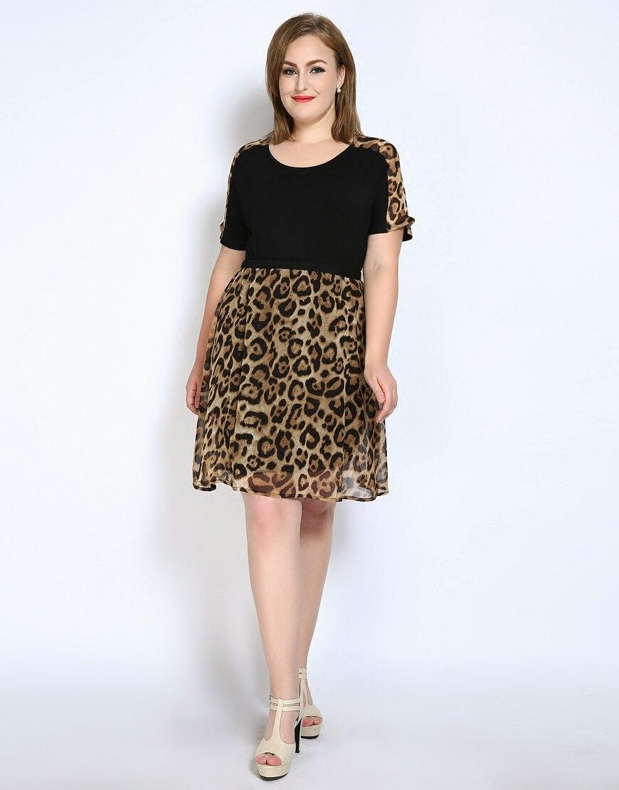 5f1c42ce2bf Sexy Leopard Patchwork Dresses Vestidos Plus Size 6xl 7xl Clothing Large  Size Short Sleeve Summer Dresses Large Size Ukraine