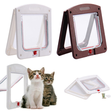 Pet Cat Puppy Dog Gates Door Lockable Safe Flap safety products Lock Suitable for Any Wall Or Doors White Brown Colors