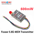 Foxeer TM600 5.8G 40CH 600mW RACEBAND VTX FPV Transmitter SMA for QAV250 210 Mini Quadcopter
