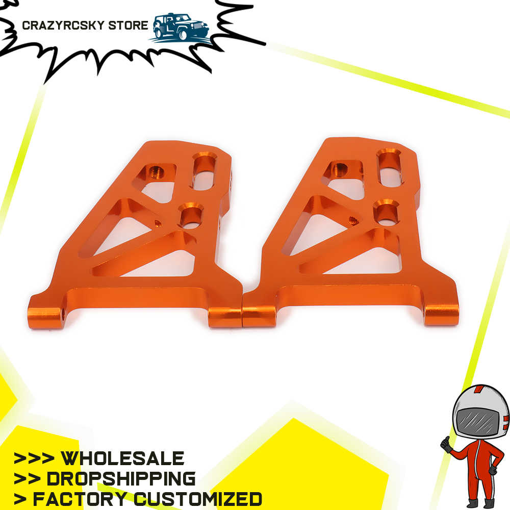 for 1 10 Arrma Front Lower Suspension Arm a-Arms 2pcs Machined Alloy Aluminum Rc Hobby Model Car 4s Outcast/&Kraton Upgraded Hop-Up Parts red