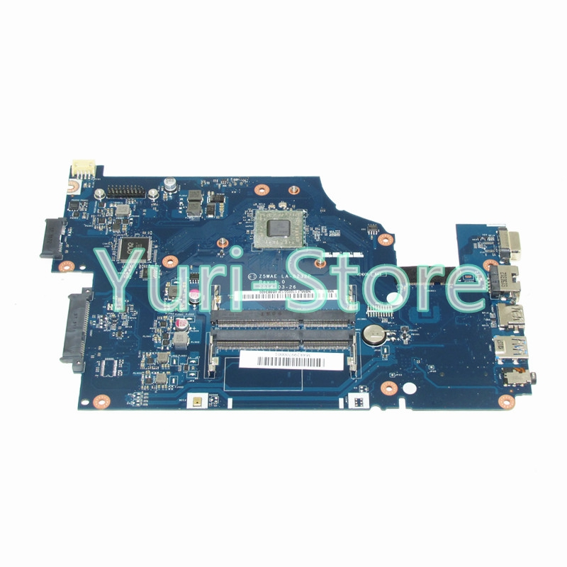 NOKOTION Z5WAE LA-B232P For acer aspire E5-521 Laptop motherboard NBMLF11005 NB.MLF11.005 DDR3 nbmlg11005 nb mlg11 005 for acer aspire e5 521 e5 521g laptop motherboard z5wae la b231p cpu onboard with discrete graphics