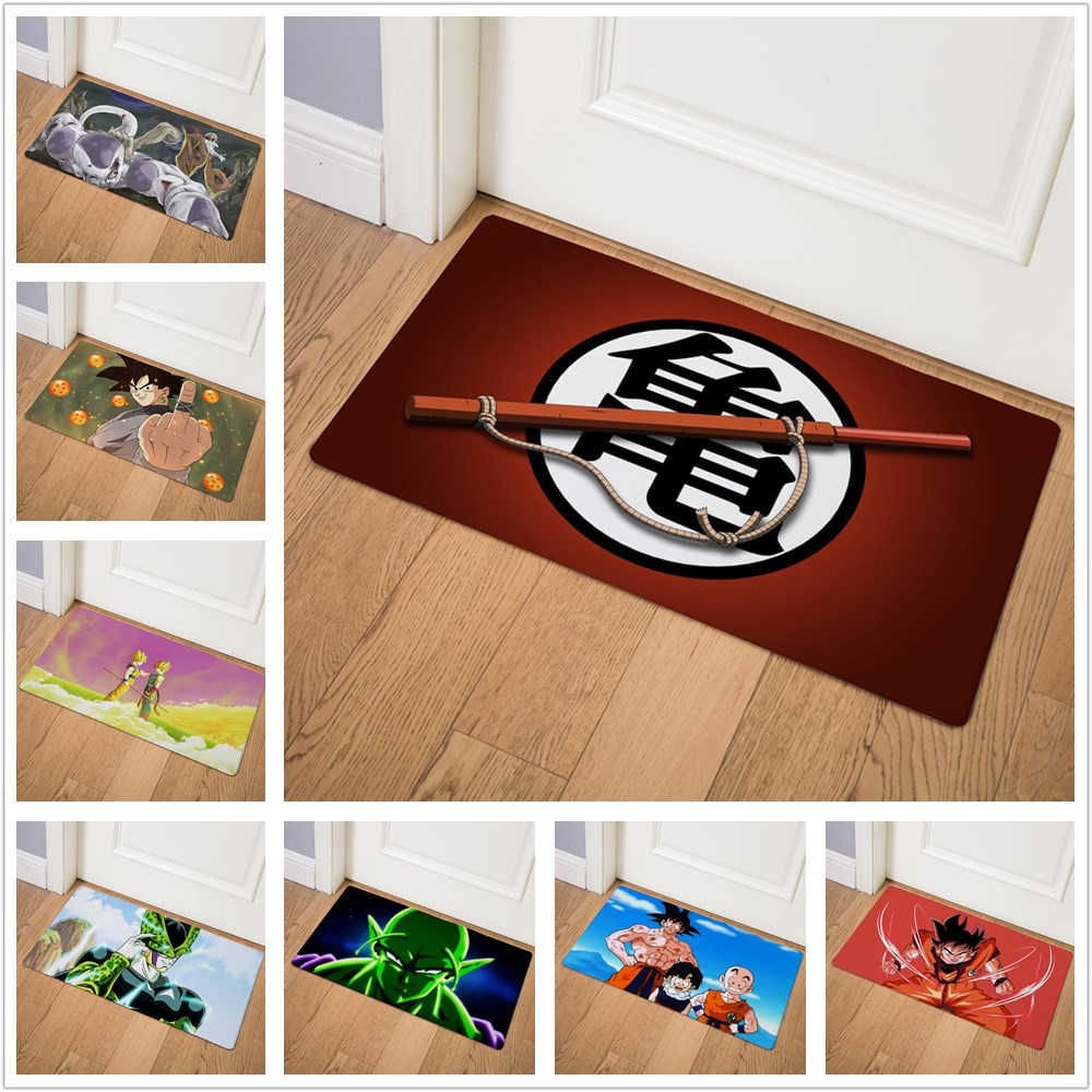 Cartoon Dragon Ball Dragon Legend Super Saiyan Home Doormat Corridor Kitchen Carpet Indoor Outdoor Welcome Non-slip Floor Mat