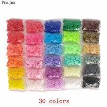 Prajna цена 20 комплектов Кам Т5 Детские полимерные кнопки пластиковые защелки плащ Одежда инструмент пресс шпильки крепежи 30 цветов