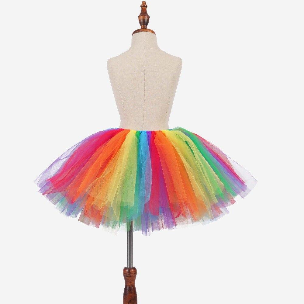 f0459c341 Bebé niñas Arco Iris Tutu falda tul Fluffy Tutu para niñas niños traje de  fiesta de cumpleaños del arco iris bebé colorido de la falda apoyos de la  foto