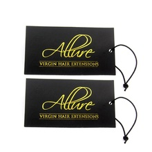 Personalized gold foil embossed UV print name hang tags for clothes