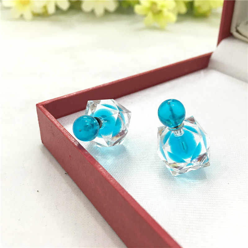 2017 New Fashion Transparent Crystal Color Earrings Minimalist Earrings for Women  4ED423
