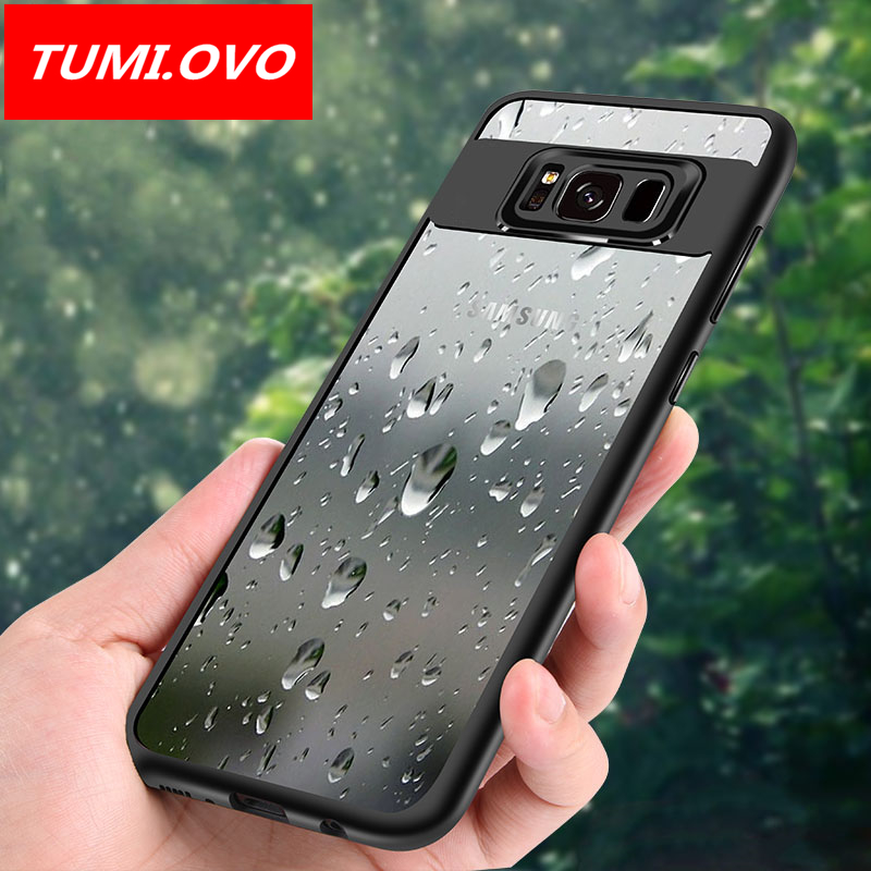 outlet store 8c105 fb69c US $2.33 22% OFF|For Samsung Galaxy S8 Case Full Protective Slim TPU Soft &  Acrylic Transparent Back Cover Case for Samsung Galaxy S8 plus Cases-in ...