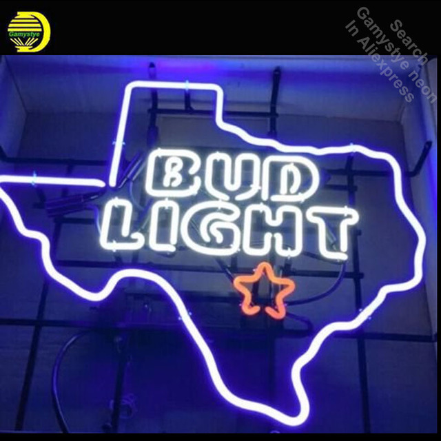 Personalized Neon Signs Enchanting Neon Sign For BudLight Texas Lone Star Neon Bulb Sign Handcraft