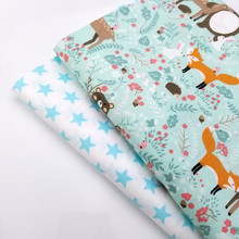 Lovely Animal/Star Printed Cotton Twill Fabric Printing Childish Style For DIY Quilting Sewing Patchwork Cloth Kids