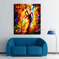 High Quality Modern art Hand Painted Wall Art Picture sexy woman Palette Knife Oil Painting On Canvas Wall Decor For Living Room