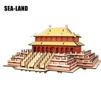 Hobby Gift Children Toys 3D Wooden Puzzles Iq Puzzles Kids Educational Montessori Toy Chinese Style Wooden Model Adult Kids