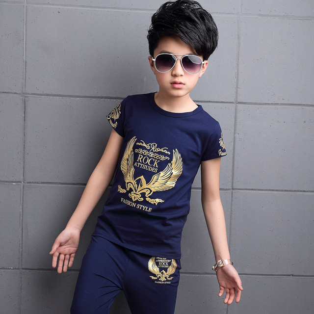 2 Piece Printed Tops + Pants Boys and Girls Clothes 2PCS Summer Children's Wear Children's Wear Boys Clothing Set