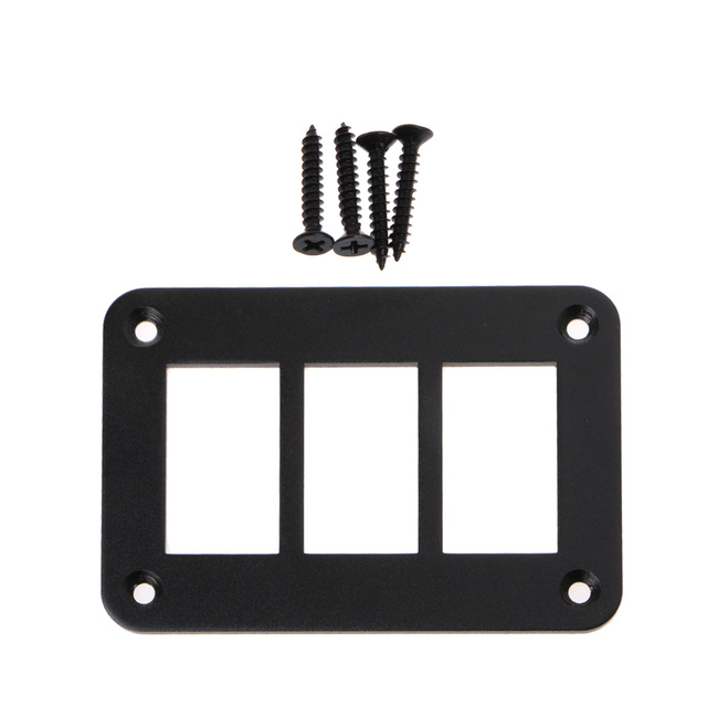 2/3/4/6 Way Aluminum Rocker Switch Panel Housing Holder FOR ARB Carling Narva Boat Type Auto Parts Switches Parts Accessories