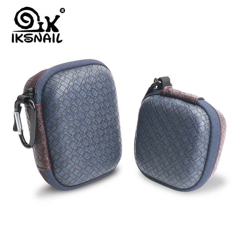 IKSNAIL Earphone Accessories Carrying Hard Case For Earphones and Cables Earphone Cases Bag EVA Square Storage Box For iPhone