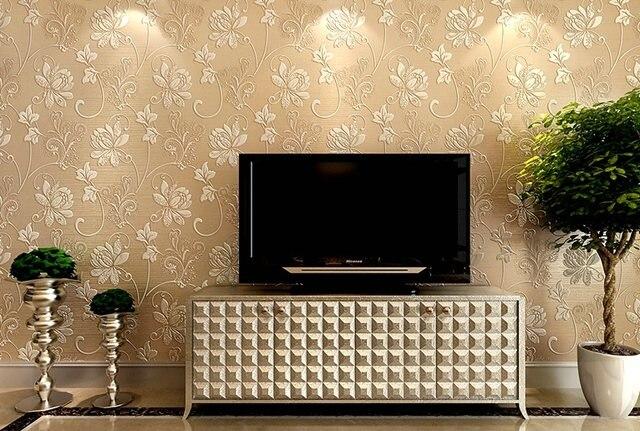 Online Shop 10M Luxury Italian Silk Fabrics vintage 3D floral Wall ...
