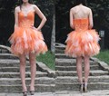 Sweet Short Cocktail Dresses Mini Length Sweetheart Neck Tulle Tiered Formal Party Gowns Beaded Sequin Backless Robe De Soiree