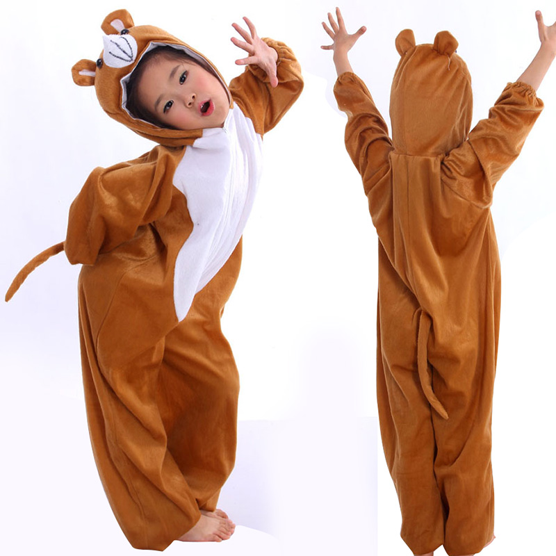 Animal Little Bear Cosplay Costume Fancy Dress / Children's Day Performance Clothing / Halloween Kids Cartoon Animal Bear Suits