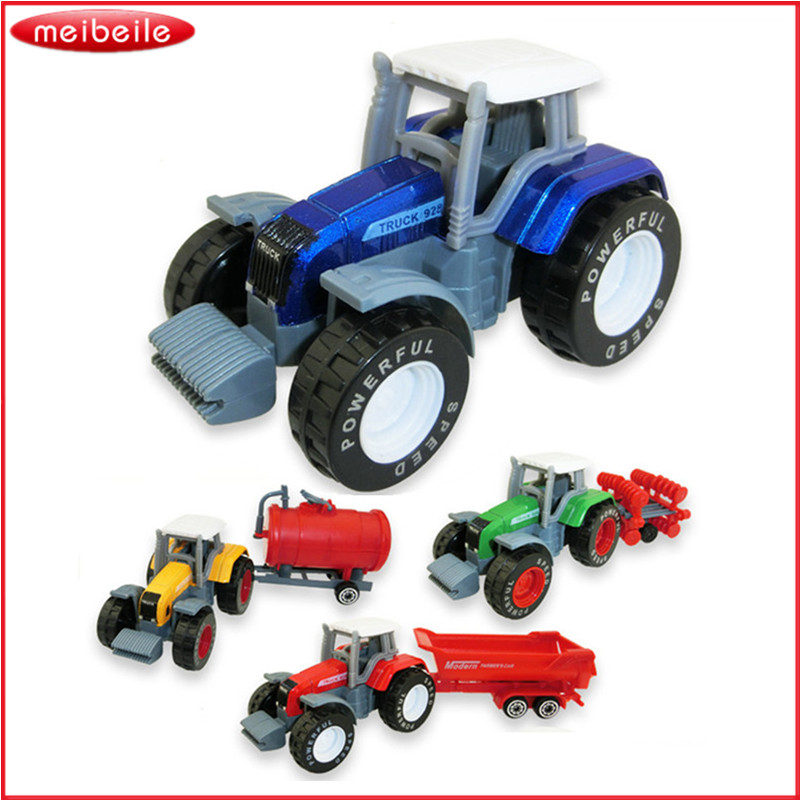 Farmer Farm Tractor Planting Machine Sprinkler Diecast Model Engineering Bil Mini Harvester Truck Billige Børnelegetøj til Kids