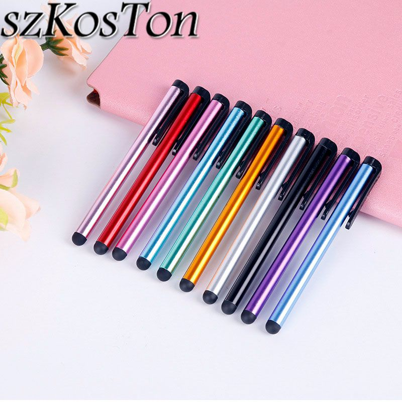 10PCS/Lot Capacitive Stylus Pen Touch Screen Tablet Pen For IPad Air Mini 2 3 4 Touch Pen For IPhone X 7 8 6 For Xiaomi Samsung