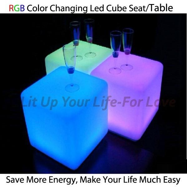 Online Shop Dia30 Plastic Led Cube Chair Wonderful LED Cube Light Magic  Change Color Light Seat   Aliexpress Mobile